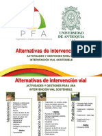 Alternativas Intervencion Vial Costos PFA - UdeA