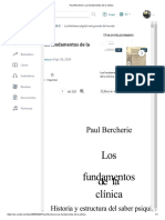 Paul Bercherie, Los Fundamentos de La Clínica