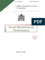 Projet Ministériel de performance