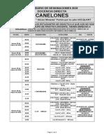 Calendario Docencia Directa Canelones 27-03 Al 01-04 de 2019