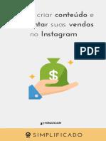 Como Criar Conteudo e Aumentar Suas Vendas No Instagram
