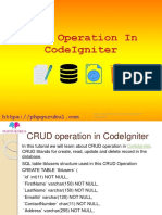 crud operations in codeigniter