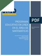 programa educativo en linea en el área de matematicas