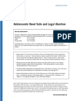Adolescents Need Safe and Legal Abortion