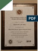 The Albert Nelson Marquis Lifetime Achievement Award