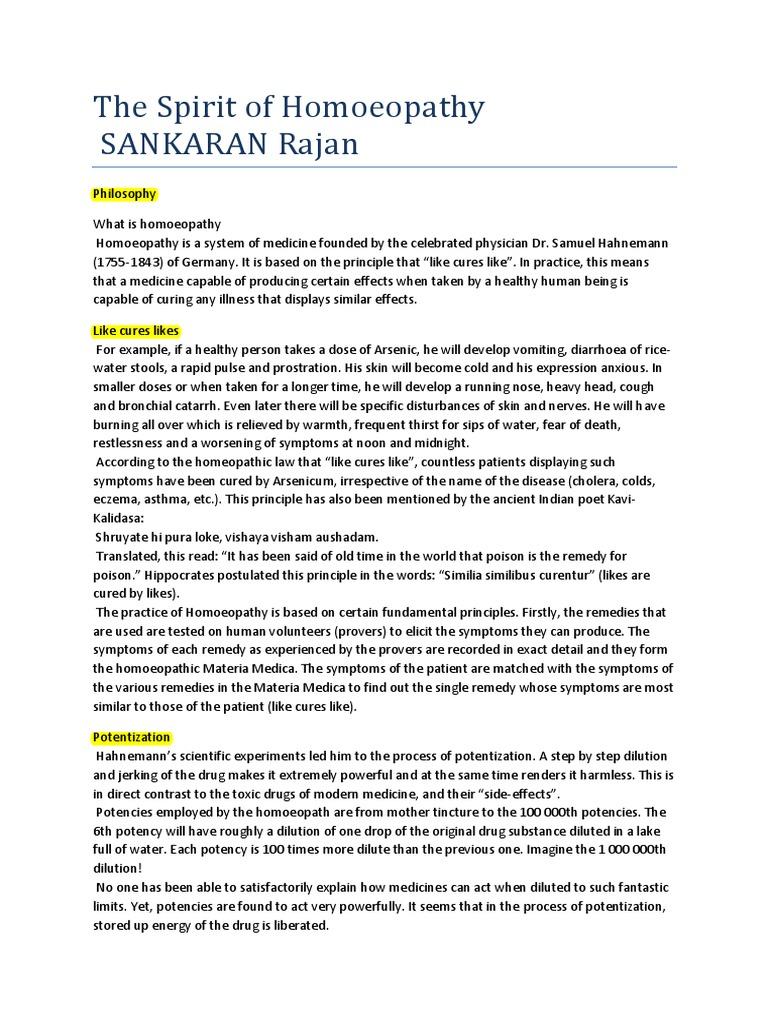 The Spirit of Homoeopathy - Rajan Sankaran pdf | Homeopathy