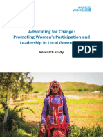 Research Study Report on Promoting Womens Participation in Local Governance