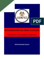 Intervención en crisis suicidas. Guía práctica para Servicios de Bomberos