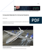 Composite materials used for UAV