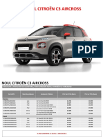 Noul Citroen C3 Aircross Lista de Preturi 01 2019