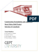 Surat Metro Project - Selection of Consultants
