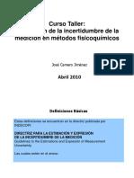 Estimación de La Incertidumbre de La Medición en Métodos Fisicoquímicos