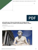 ¿Es Posible Que El Famoso Historiador de La Antigua Grecia Tucídides Predijera Un Conflicto Entre Estados Unidos y China_ - BBC News Mundo