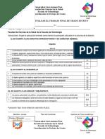 Acta de Evaluacion La Escrita y Acta de Trabajo G