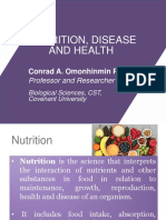 Nutrition, Heath and Diseases