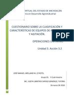 Cuestionario de conceptos sobre Operaciones Unitarias.