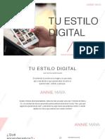 Tu Estilo Digital - Masterclass