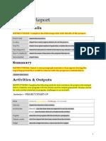 APPENDIX a Progress Report Aoc