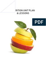 health nutrition unit plan and lessons