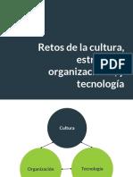 Retos de la cultura, estructura organizacional, y tecnología
