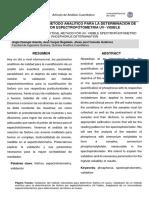 Paper Validacion de Un Método Para Foósfor Por Espectrofotometría Uv-Visible