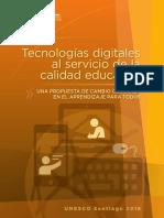 Unesco Tecnologias Digitales Al Servicio de La Calidad Educativa
