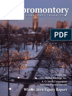 Promontory Investment Research Winter 2019 Publication