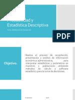 Probabilidad y Estadística Descriptiva Unidad I