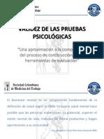 Validez de Las Pruebas Psicologicas Dra. Anyela Montañez