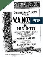 Mozart - 16 Minuets