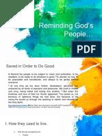 Reminding Gods People