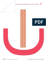Alphabet Shapes d