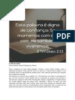 A Vida Em Cristo 30-03-2019
