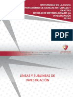 SEMANA3 TEMA2.Conceptualizaci¢n de las sub-l°neas de investigaci¢n de los diferentes programas acadÇmicos
