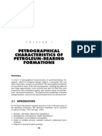 petrographical characterization of petroleum bearing formation