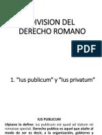 Division Del Derecho Romano