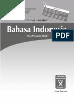 Kunci Jawaban Mandiri Bahasa Indonesia Kelas X Docx