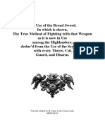 The Use of the Broad Sword