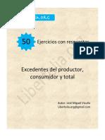 Ejercicios excedente del productor, consumidor y total - Vicuña