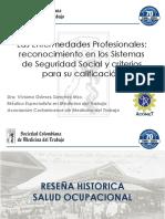 Reconocimiento en Los Sistemas Sde Seguridad Social y Criterios de Calificcion Dra. Viviana Gomez