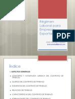 14Régimen Laboral Para Empresas Exportadoras - Taller TRIBUTARIO Ses1
