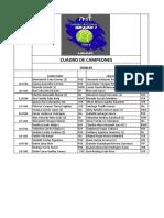 Campeones Dobles en Torneo Nacional de Tenis Grado Uno
