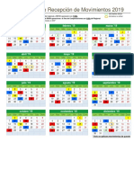 Calendario Anual 2019 Movimientos