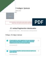 """Notas de """" El Milagro Spinoza """""""