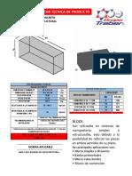 Ficha Tecnica Block Macizo de Concreto 20x20x40 Linea Estructural Nmx-c-404