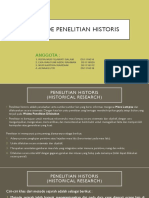Metode Penelitian Historis