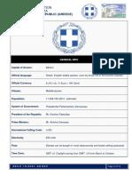 Essential Information & Demographic Data of Greece