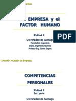 3.- La Empresa y El Factor Humano - Competencias Personales - Parte 2