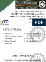 Control de Fuerza en Músculo Neumático Mediante Válvula