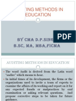 Auditing in Education